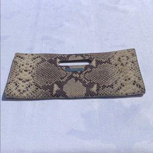 Michael Kors Tilda Snakeskin Leather Clutch